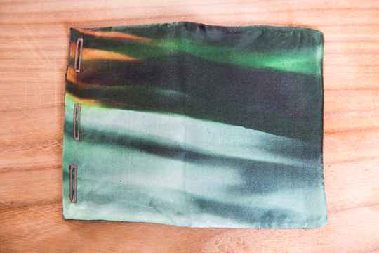 Silk Pocket Square -Fire Tulips- Dark Green/Green