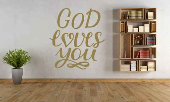 Muursticker 191115 - God loves you