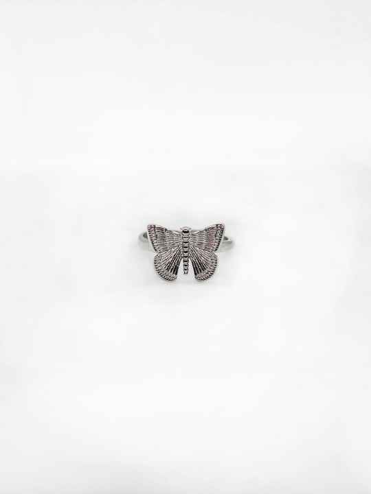Butterfly ring zilver