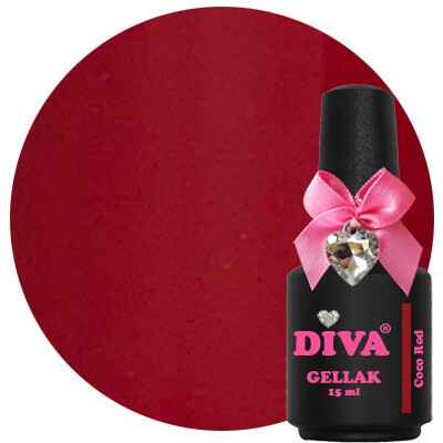 DIVA gellak Coco Red (love at first sight collection)