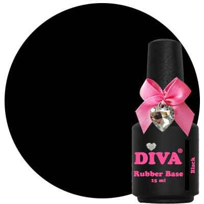 DIVA rubber base coat - black