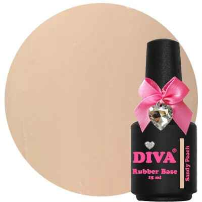 DIVA rubber base coat - sandy peach