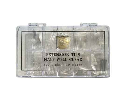 Cinz half well extention tips clear 500st