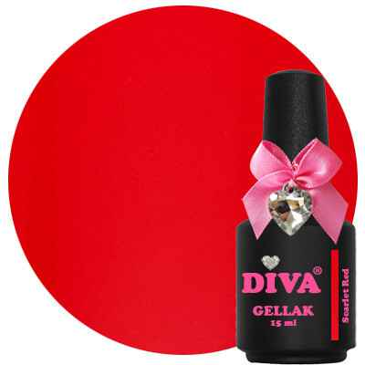DIVA gellak Scarlet Red (catch the kiss collection)