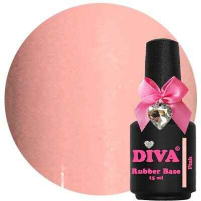 DIVA rubber base coat - pink