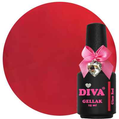 DIVA gellak glass red (color your dreams collection)