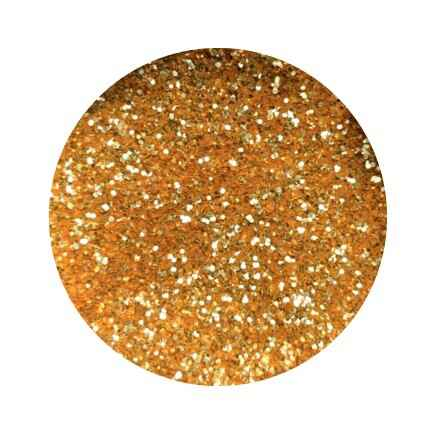 Lenks glitters in pot - oranje/goud