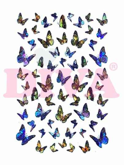 DIVA butterfly stickers 1