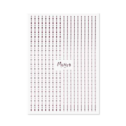 Moyra nail art strips dots 03 rose gold