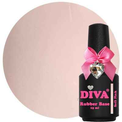 DIVA rubber base coat - soft pink