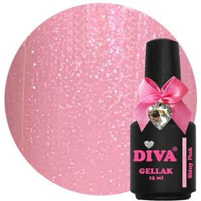 DIVA gellak Shiny Pink (miss sparkle collection)