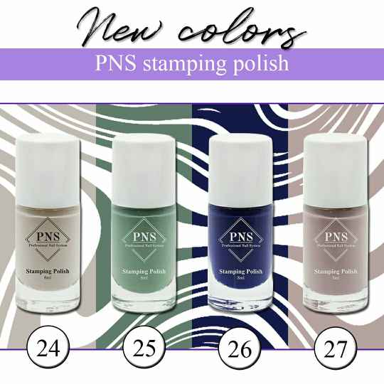 PNS stamping polish - new colors 24 t/m 27