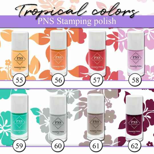 PNS stamping polish NEW COLORS nr 55 t/m 62