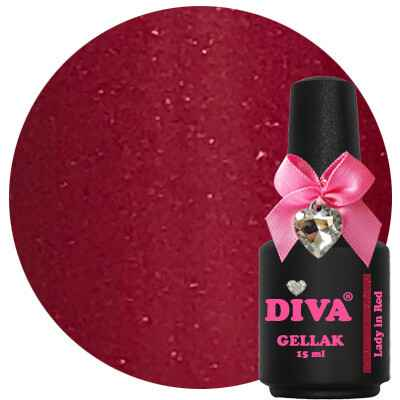 DIVA gellak Lady In Red (love at first sight collection)