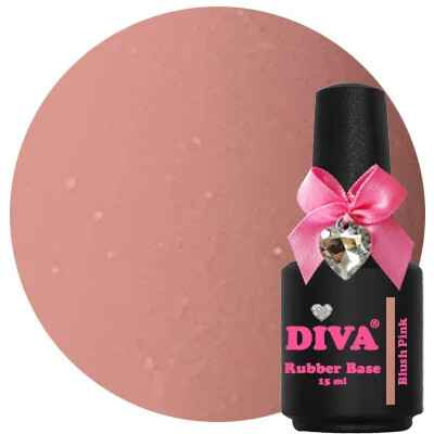 DIVA rubber base coat - blush pink