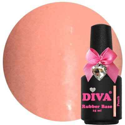 DIVA rubber base coat - peach