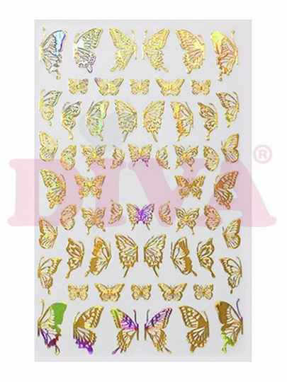 DIVA butterfly stickers 12