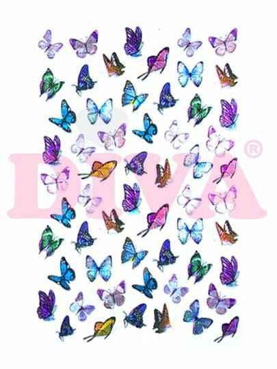 DIVA butterfly stickers 9