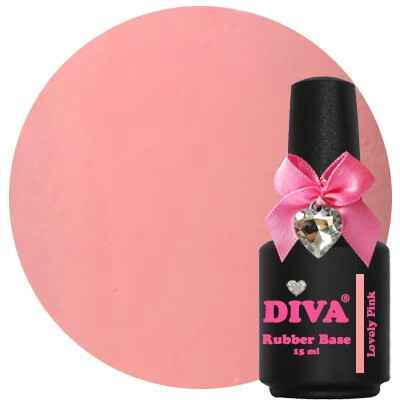 DIVA rubber base coat - lovely pink