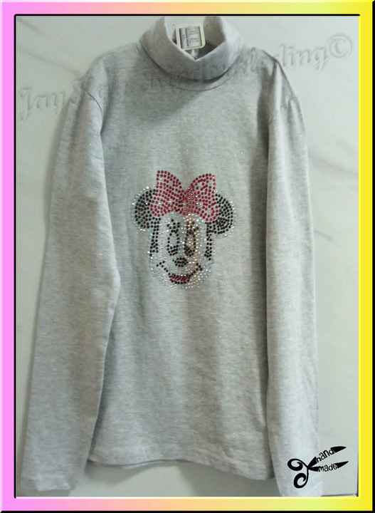 Coltrui met Minie Mouse strass patroon