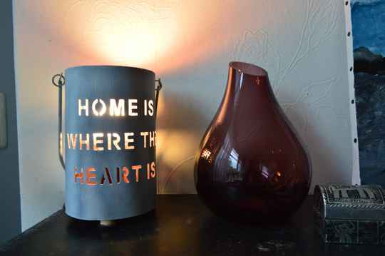 """""""Home is where the heart is"""" tafellamp"""