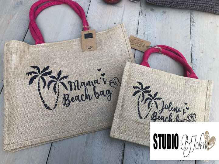 MINI BEACH BAG MET NAAM || TWINNING