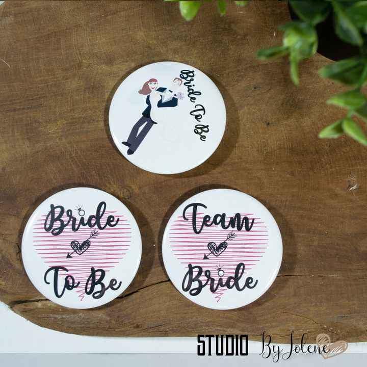 BUTTON SET || BRIDE TO BE