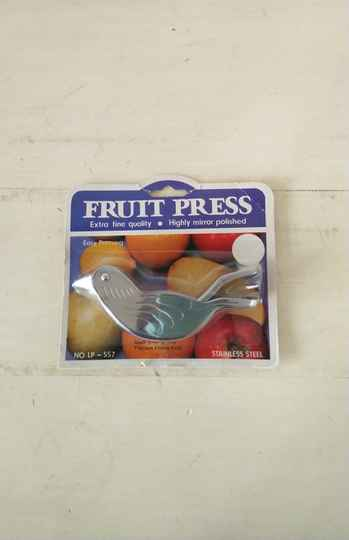 Vintage fruit press fruit pers vogel nieuw in verpakking new