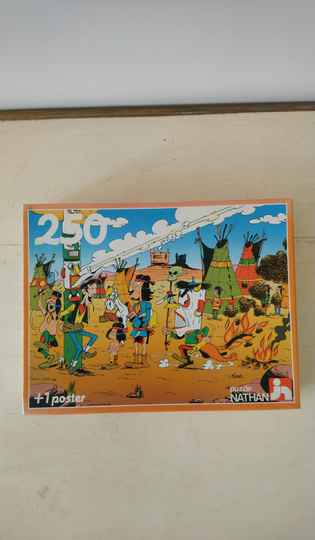 Vintage puzzle Lucky Luke bij de Indianen / chez les Indiens / by the native Americans