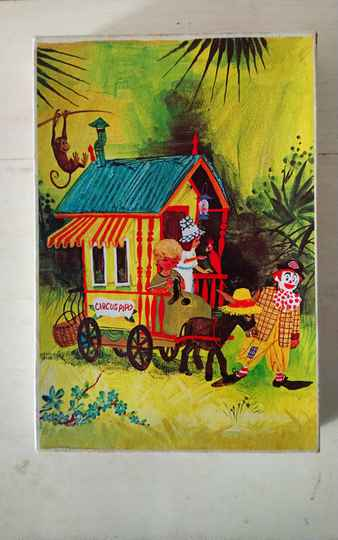 "Vintage Clipper puzzel ""Pipo de Clown met pipowagen"" clown puzzle"
