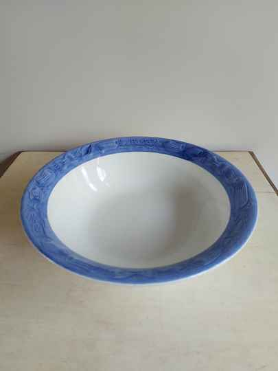 Vintage grote pasta schaal Ironstone Tableware Italy