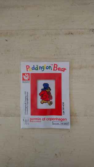 Paddington Bear borduurpakketje Permin of Copenhagen 1995