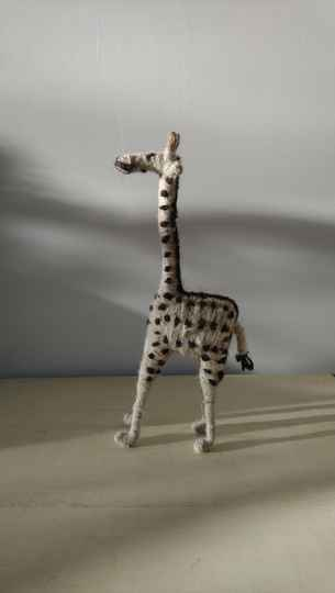 Giraf van sisal touw giraffe made of sisal rope