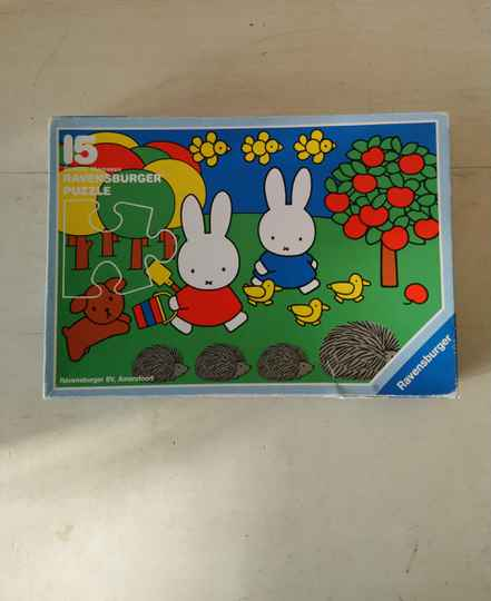 """Ravensburger puzzle """"Met Nijntje op stap / Going out with Miffy"""" Dick Bruna 1992"""