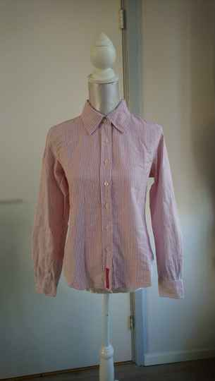 90s rood gestreepte blouse Tommy Hilfiger - maat xs/s