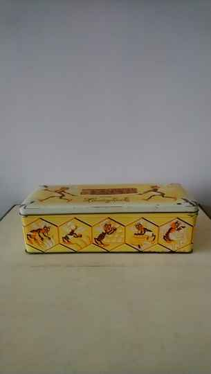 Vintage blik honingkoek Slingerkoek / biscuit tin honey cake