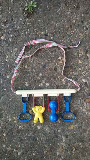 Vintage Ambi Toys baby gym, baby trainer of box hanger