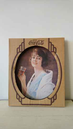 Vintage dienblad Coca Cola, reproductie jaren 20 in doos / tray reproduction 20's