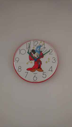 "Vintage klok clock ""Disney's Fantasia"" Mickey Mouse"