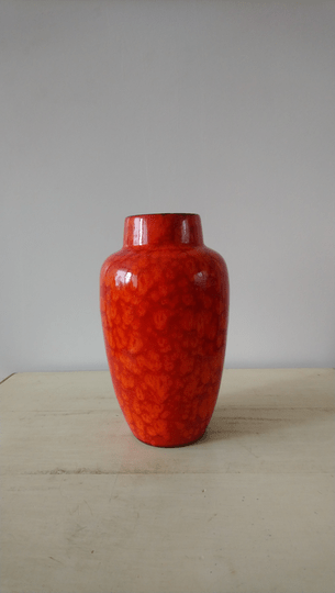 Vintage oranje vaas West-Germany 549-21 / orange vase