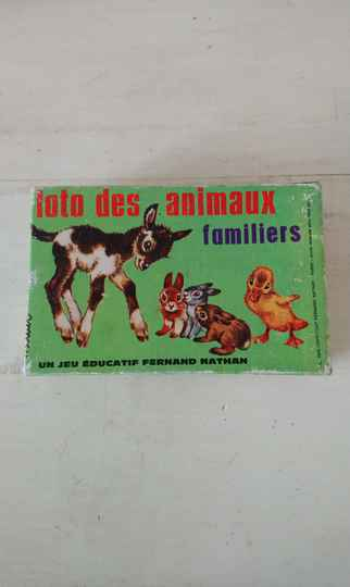 """Vintage dieren lotto """"Loto des animaux familiers"""" Fernand Nathan 1970 animal lotto"""