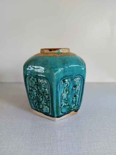 Vintage turquoise Chinese gemberpot