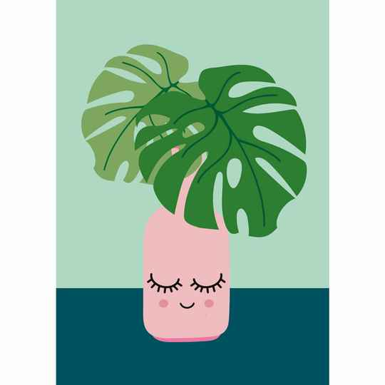 Postkaart Monstera