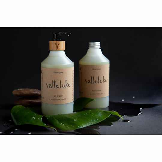 Valloloko Let It Rain Shampoo - Geranium & Hempseed Oil
