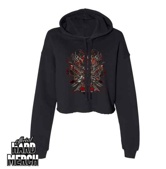 Insanity - Big logo - May you rot in hell - Cropped Hoodie