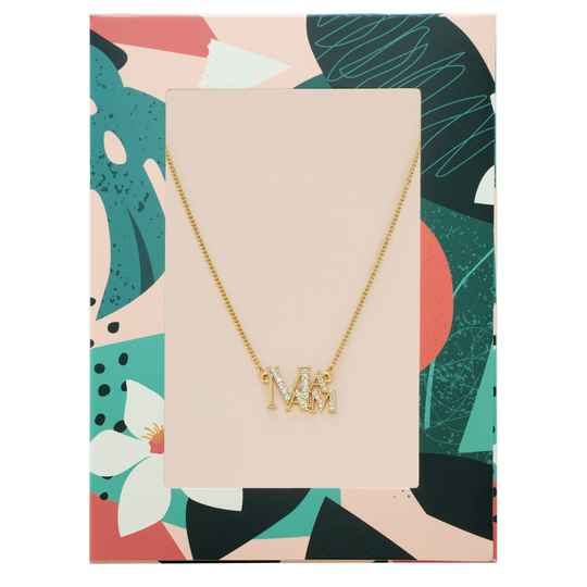 'MAMA' NECKLACE GOLD
