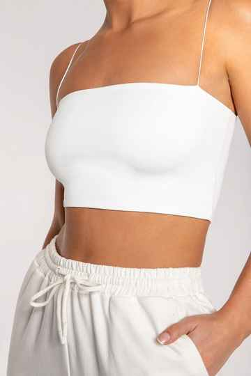 LILY CROPPED TOP WHITE