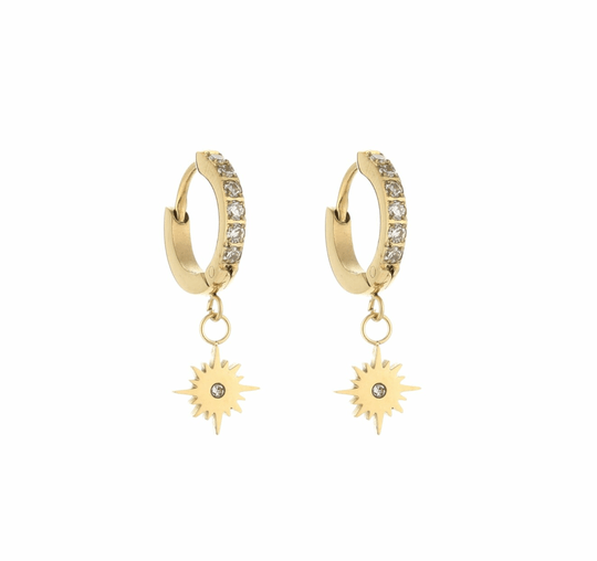 SHINY STAR EARRINGS GOLD