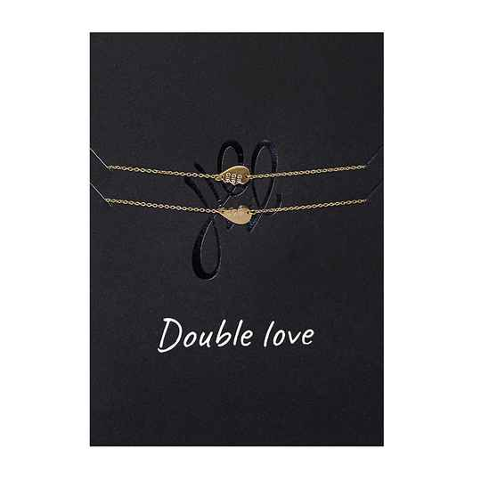 DOUBLE LOVE POSTCARD GOLD