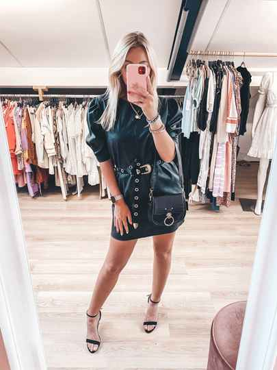 MARLY LEATHER DRESS